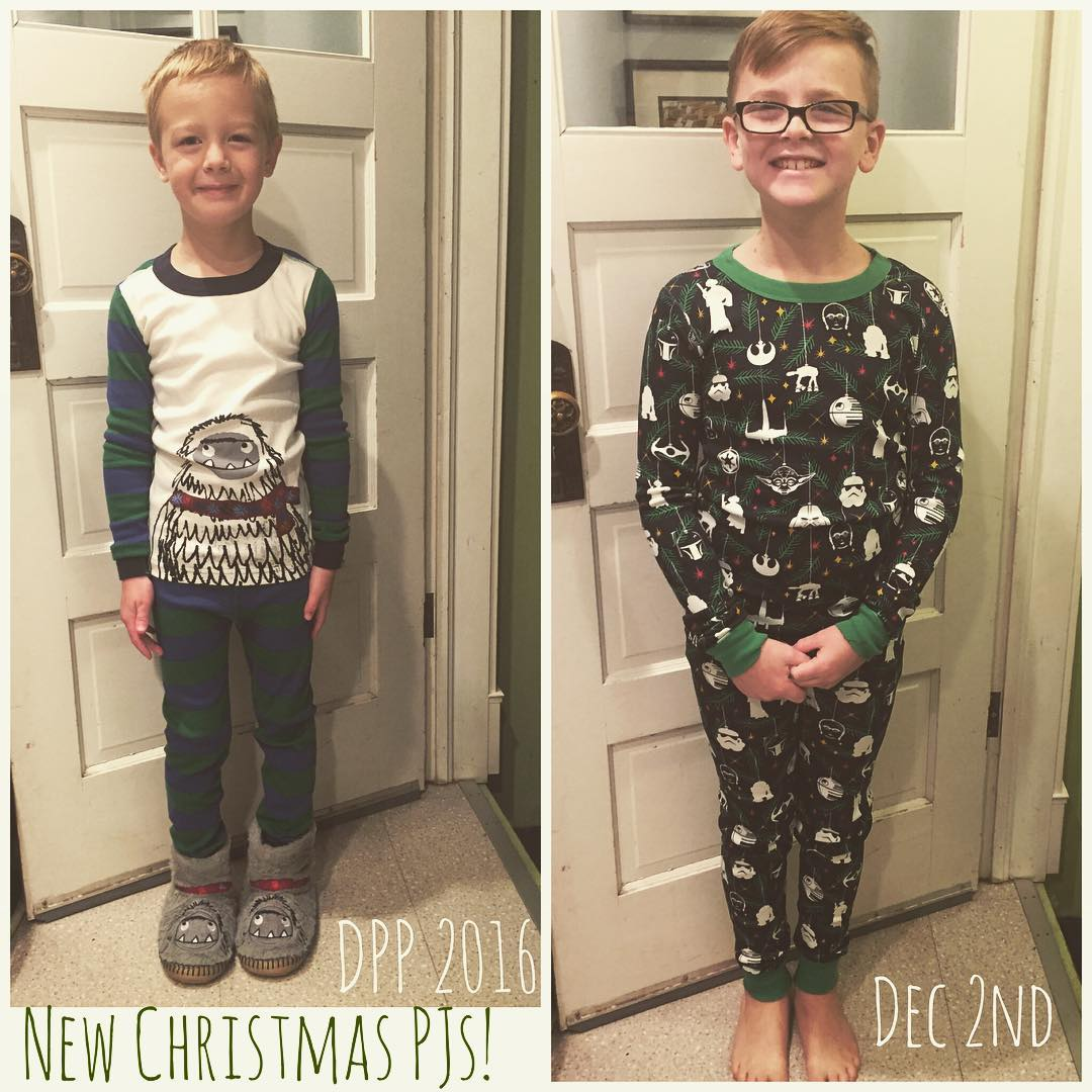 December Photo Project 2016 :: Dec 2nd :: New Christmas PJs!