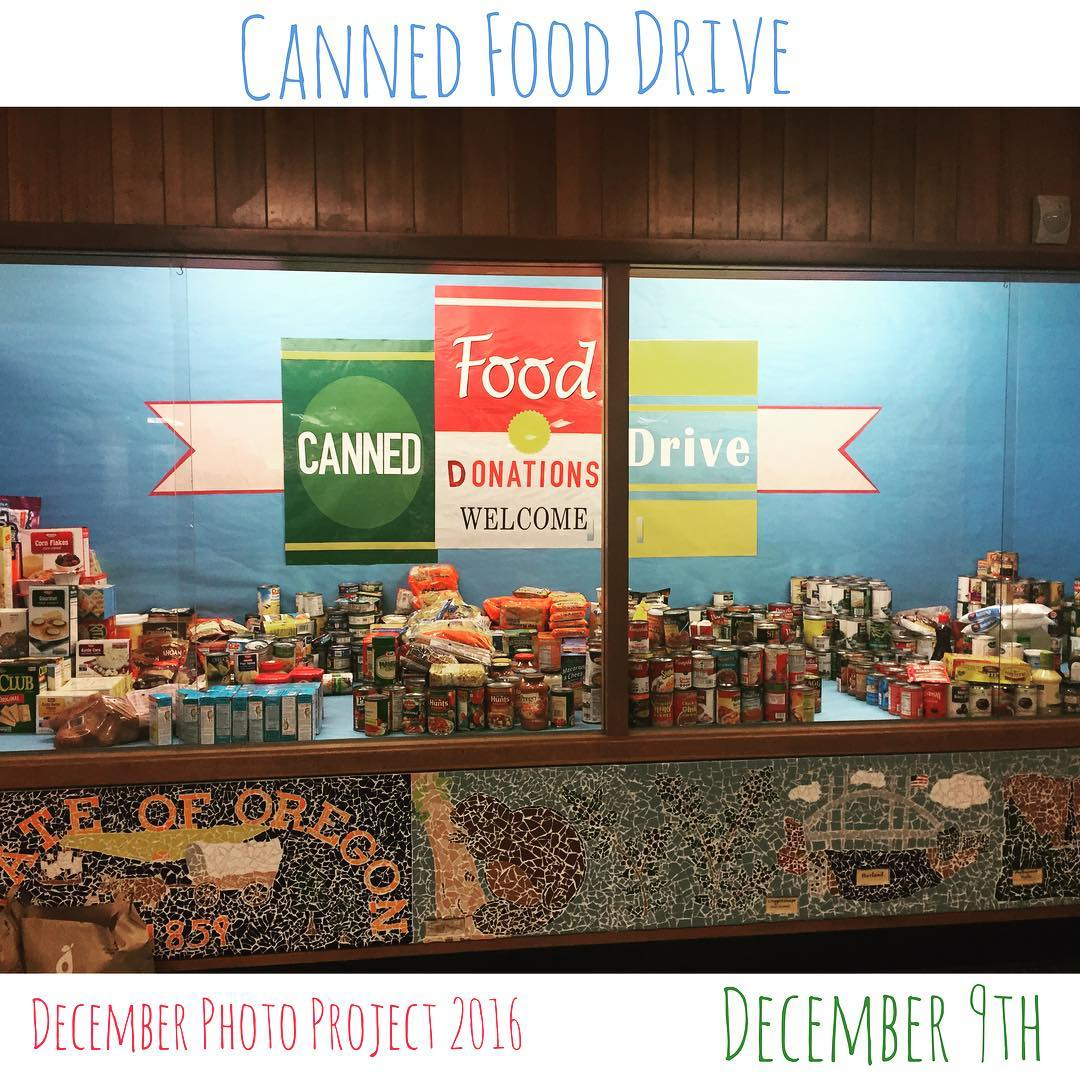 Love the display at our school....canned food drive time! ❤️ #dpp2016
